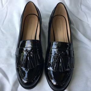 Avenue cloudwalkers black shiny loafers size 11